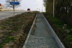 Výstavba chodníku - státní silnice